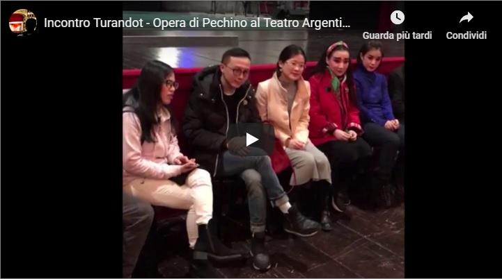 Turandot, con gli attori dell'Opera di Pechino
